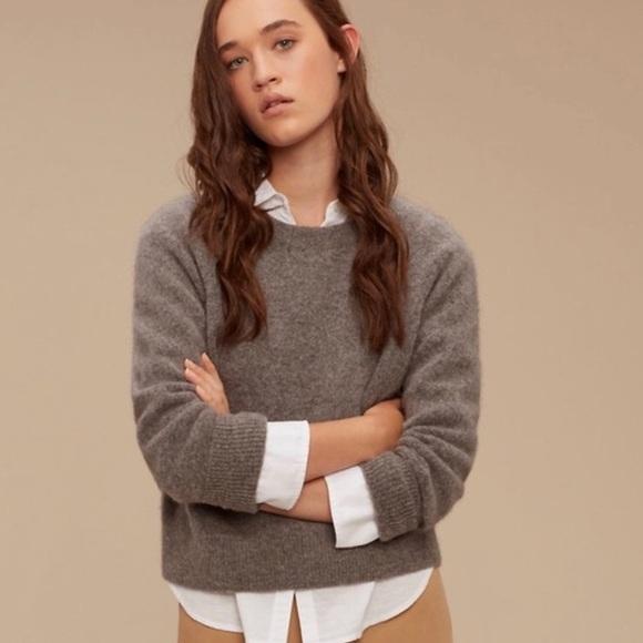 Aritzia Community Madras Pullover Sweater size XS